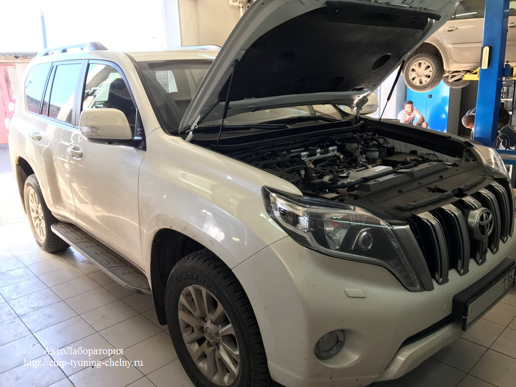 Чип-тюнинг Toyota Land Cruiser Prado 150  2.8L 177 HP 2017г