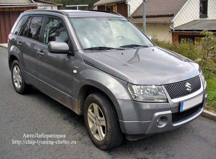 Чип-тюнинг Suzuki Grand Vitara 140HP 2.0L (2008 г.в.) с удалением катализатора