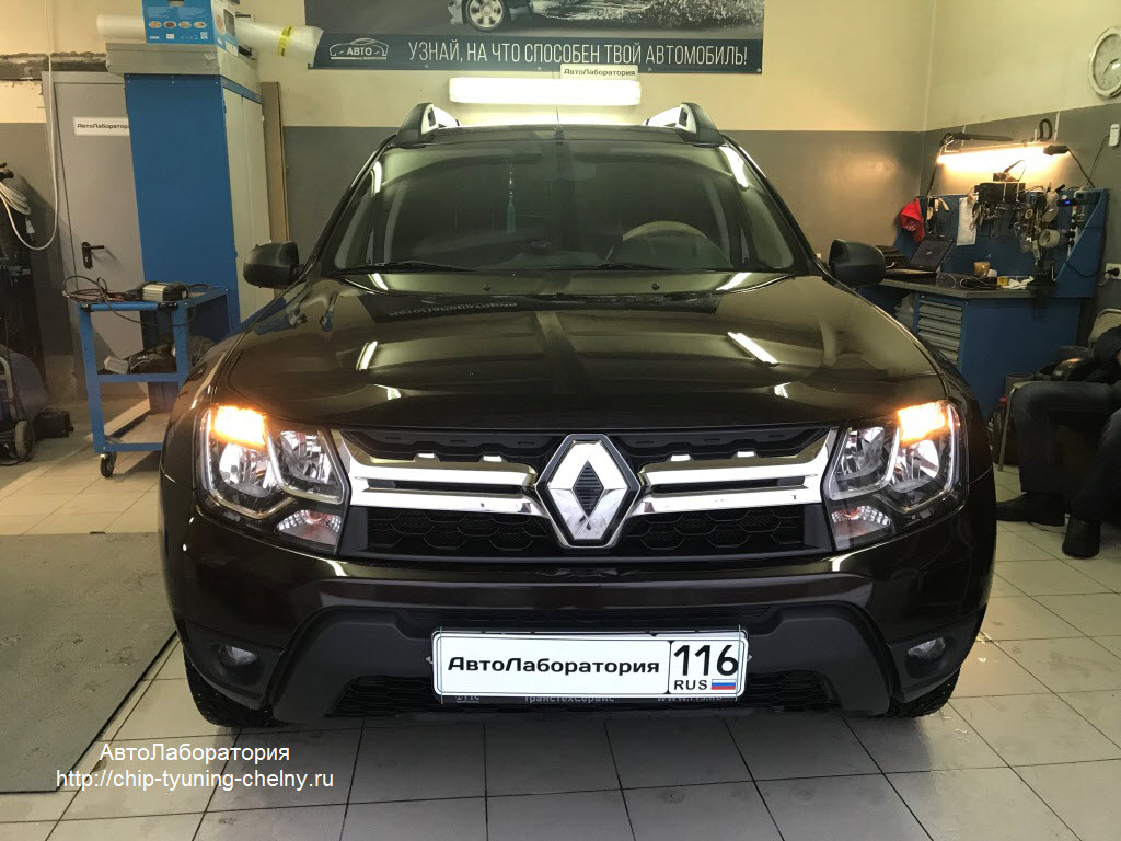 Чип-тюнинг Renault Duster 114HP 1.6L 2016 г.в.